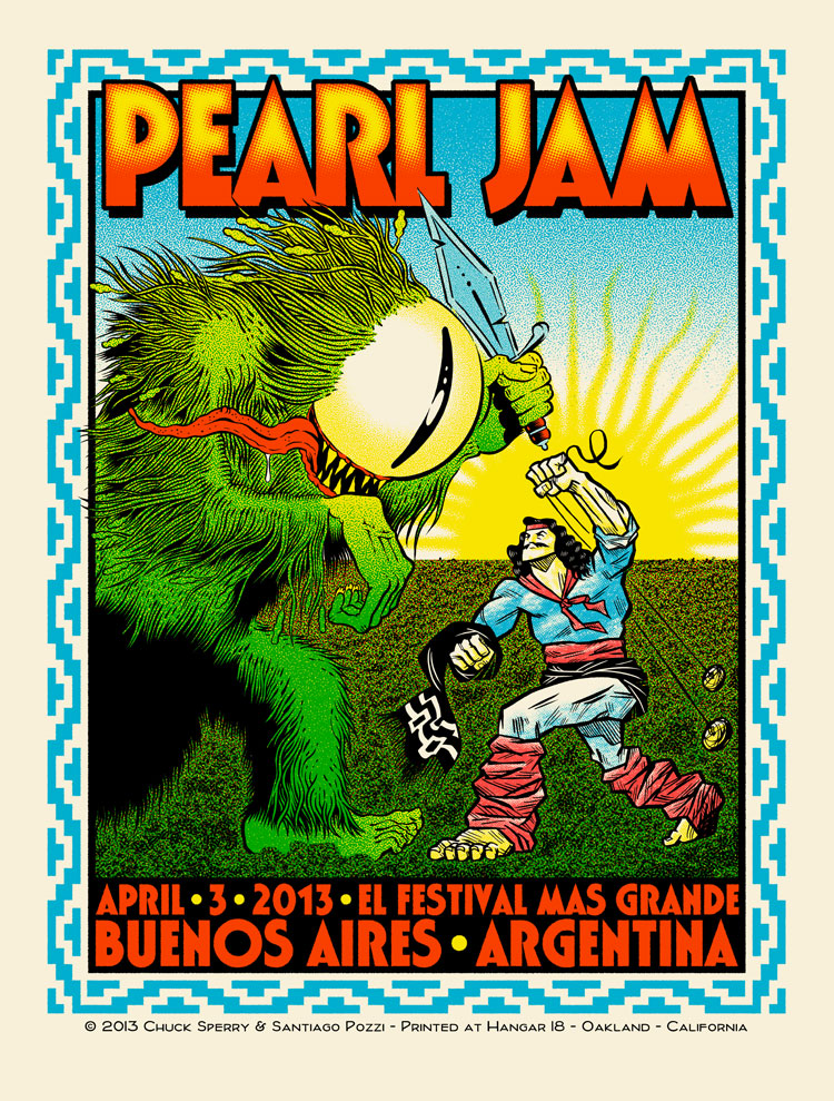 Pearl Jam Live in Two Dimensions, Haight Street Art Center, Chuck Sperry